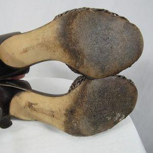 Banana Republic Shoes - Banana Republic Leather Woven Metallic Heels